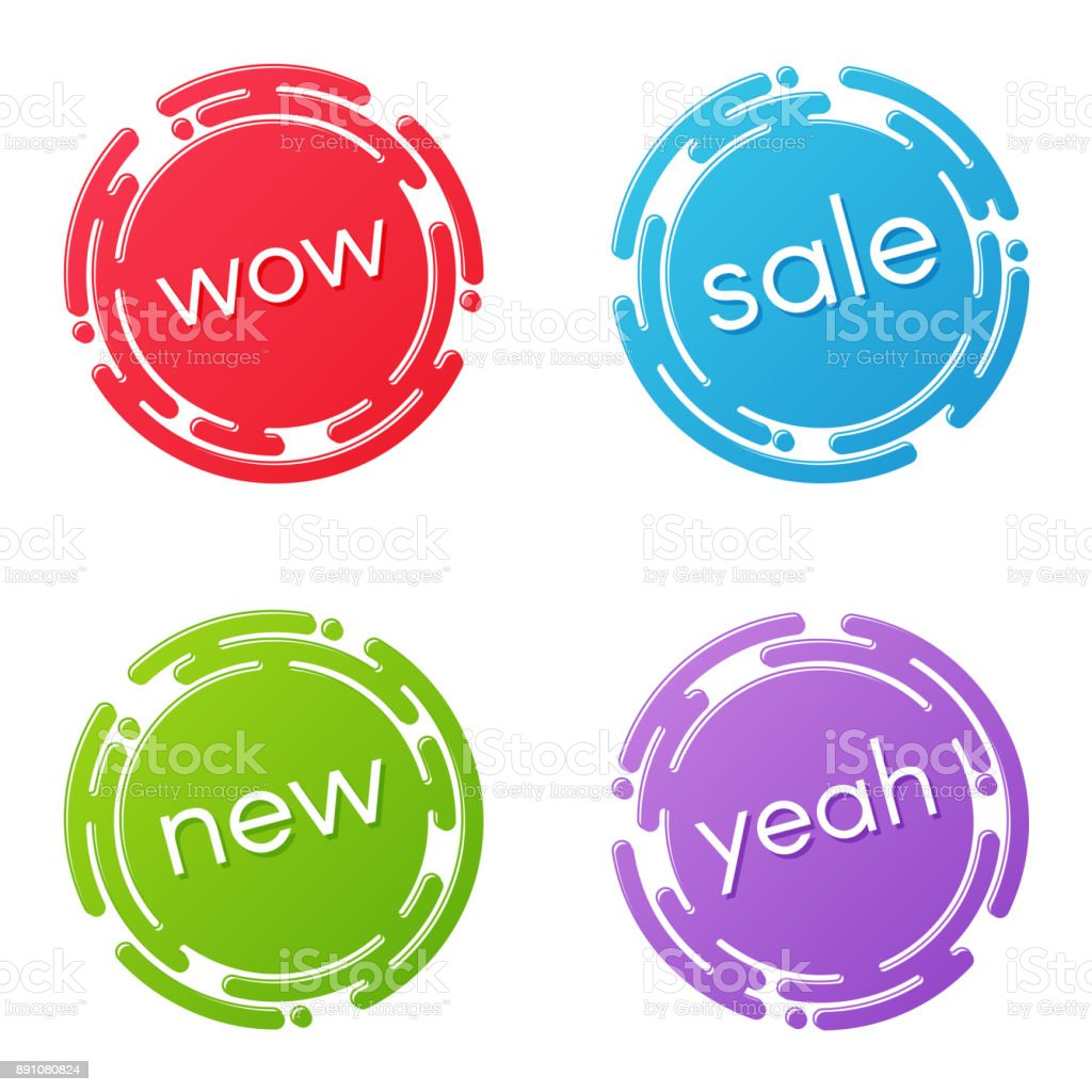 creative sale discount or promotion label designs price tags s stock