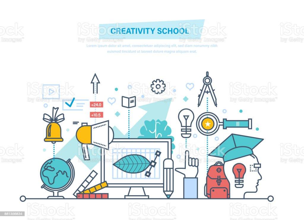 Ilustración de Escuela De Creativa Capacitación Creatividad ...