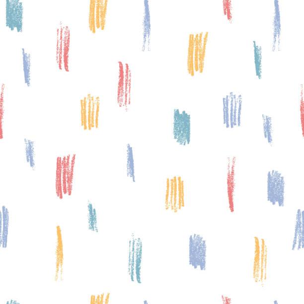 stockillustraties, clipart, cartoons en iconen met creatief naadloze patroon met potlood scribbles. kleurrijke abstracte achtergrond. - baby dirty