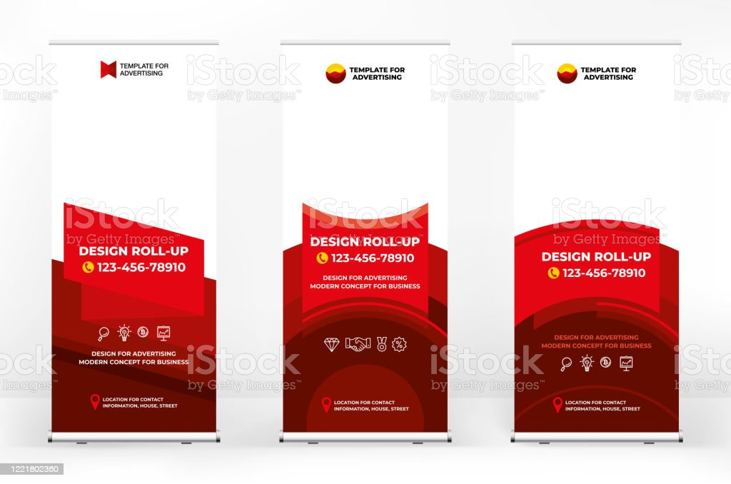 Creative Set Of Advertising Banner Roll Up Creative Abstract Background Banner For Presentations Advertising Of Products And Events Background For A Brochure Or Booklet Advertising Background Stock Illustration Download Image Now