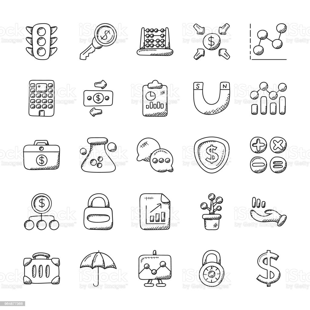 Creative Set Of Banking And Finance Icons royalty-free creative set of banking and finance icons stock vector art & more images of atm
