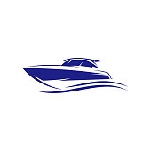 istock Creative ship sail boat vector graphic logo design 1254462216