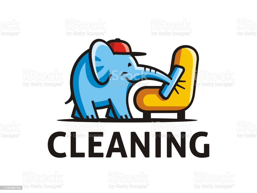 8cb9df9f4 Creative sign template of room cleaning service. Vector format. royalty-free  creative sign