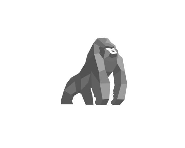 Creative Silverback Logo Design Vector Symbol Illustration Creative Silverback Logo Design Vector Symbol Illustration gorilla stock illustrations