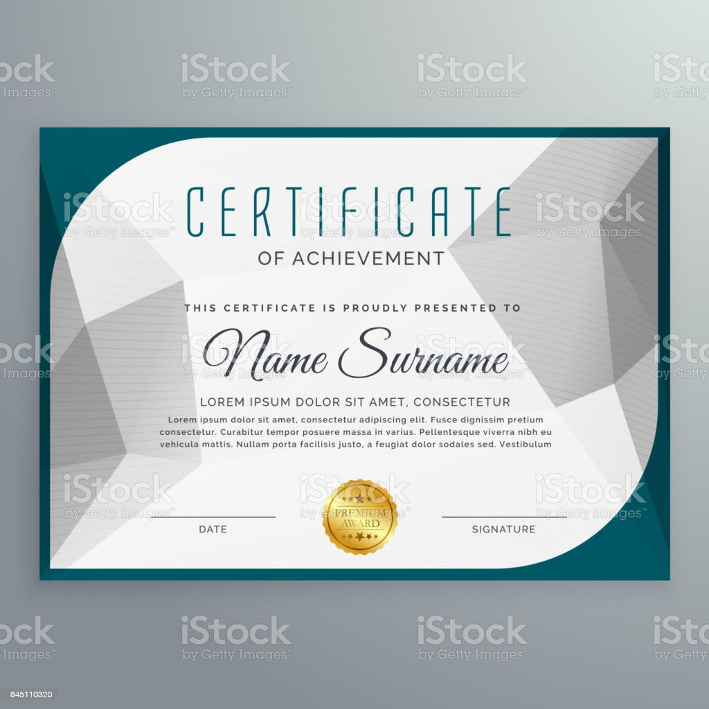 creative simple certificate design template with abstract shape royalty free creative simple certificate design template