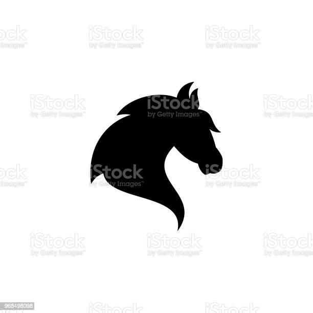 Creative simple silhouette head horse vector icon on the modern flat vector id968498098?b=1&k=6&m=968498098&s=612x612&h=6t6 nlyxeocaiplc3lmwpot4rs5s8s5weuszzunp2b4=