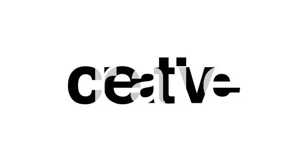 Creativa. Lema para la tipografía de la camiseta se superponen gráficas del texto de alfabeto. Ilustración de vector - ilustración de arte vectorial