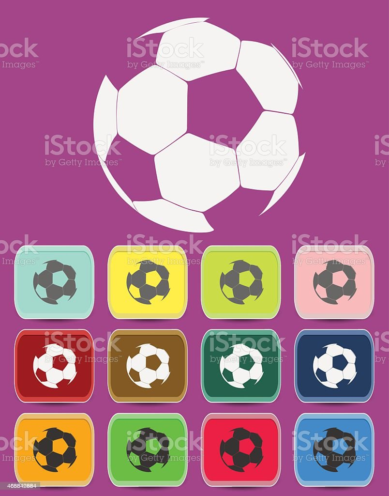 Creative Soccer Ball Icon vector art illustration