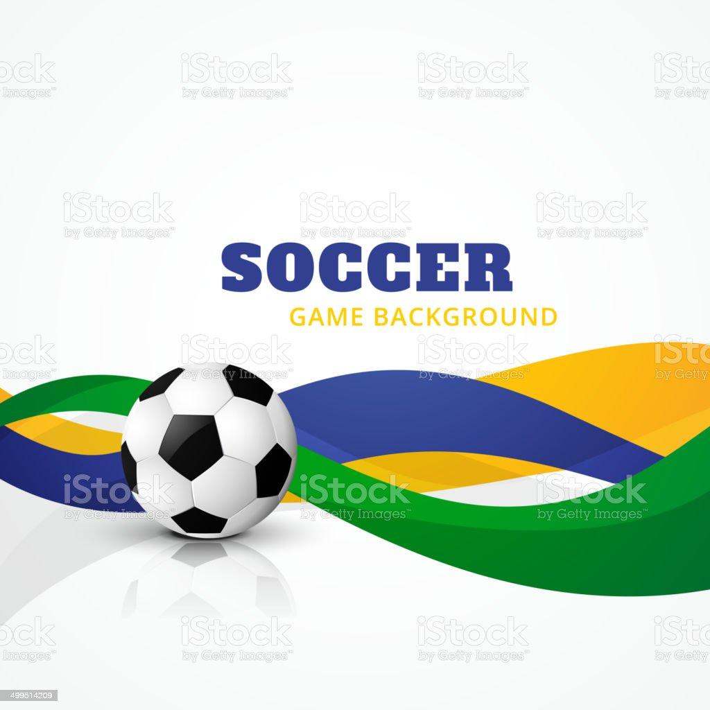 creative soccer vector background vector art illustration