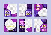 Creative sale and discount promo banners