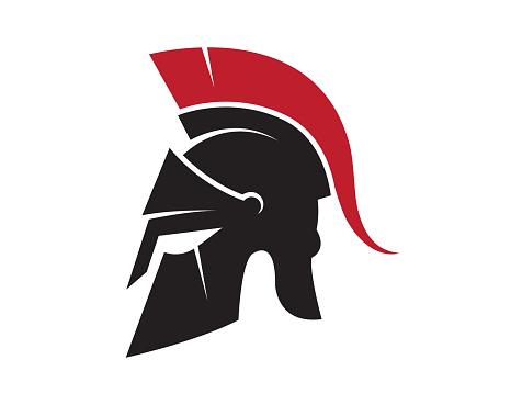 Creative Spartan Helmet Design Vector