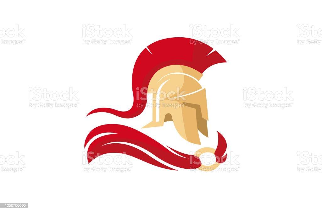Casque de Spartan créatif Logo - Illustration vectorielle