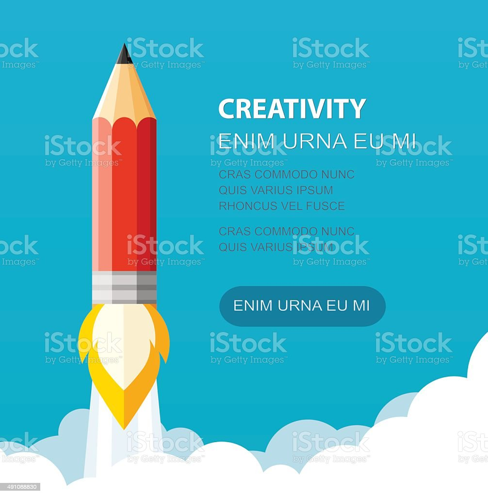 Creative start vector art illustration