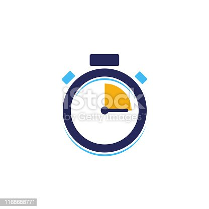 creative stopwatch vector icon. fast time vector icon.