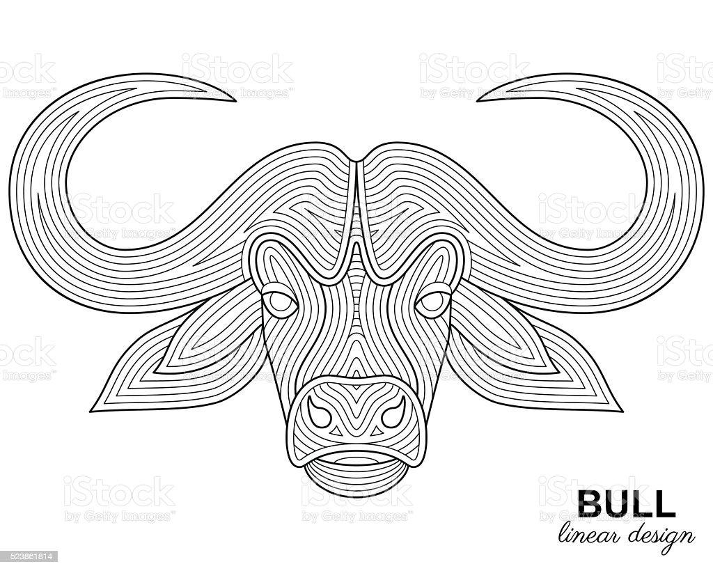 Творческий Изображением Головы Быка Изложенными В Этническом Стиле —  стоковая векторная графика и другие изображения на тему Аборигенная  культура - iStock