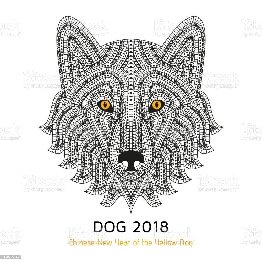 Creatif Chien Stylise Bon Pour Logo Tatouage Conception De Tshirt Fond Animaux Vecteurs Libres De Droits Et Plus D Images Vectorielles De 2018 Istock