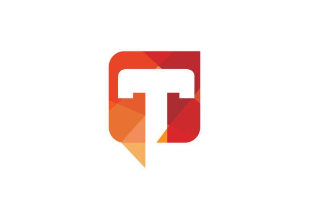 Creative T Letter Talk Bubble Logo Design Symbol Vector Illustration Creative T Letter Talk Bubble Logo Design Symbol Vector Illustration letter t stock illustrations