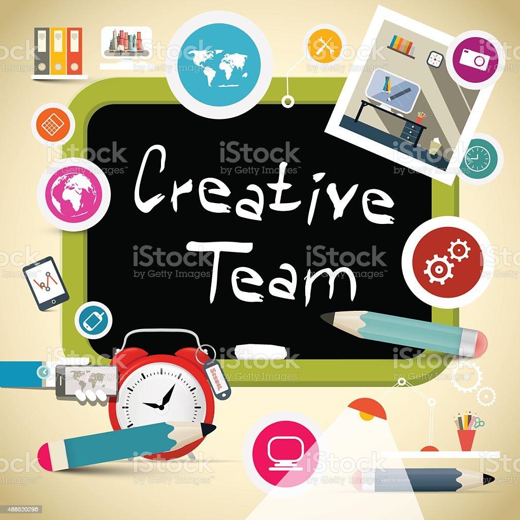 Creative Team Vector Illustration vector art illustration