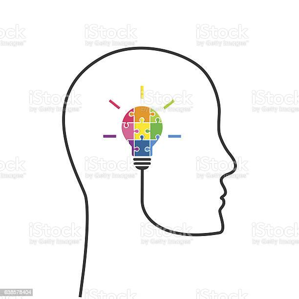 Creative thinking concept with lightbulb made of colourful puzzle vector id638578404?b=1&k=6&m=638578404&s=612x612&h=wag8wpsjr9s7hqaxz84 mwjxid5i5kuitkh elg1iya=