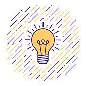 istock Creative Thinking Flat Line Icon Illustration 1125015323