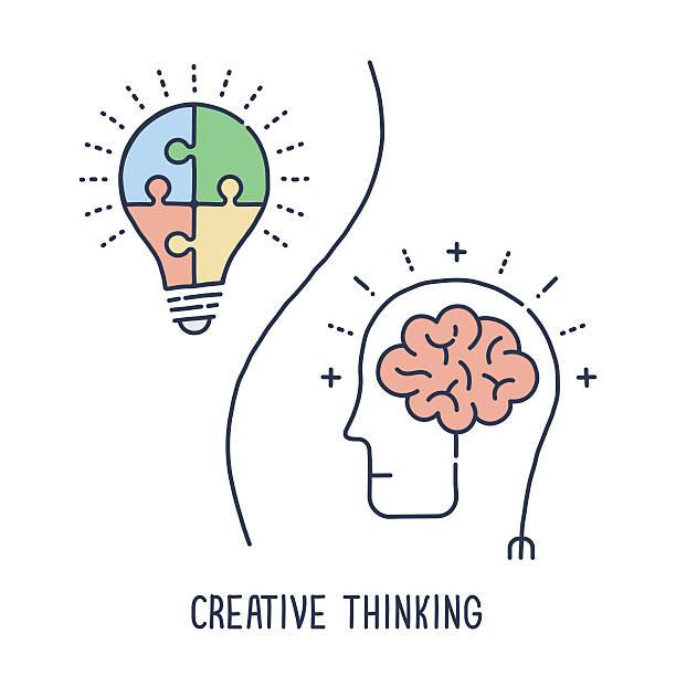 Pensamento criativo símbolo - ilustração de arte em vetor