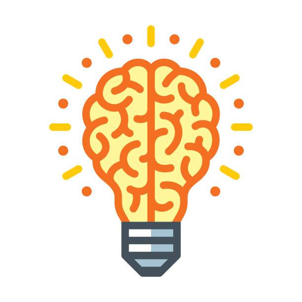 창의적인 사고 - brain stock illustrations