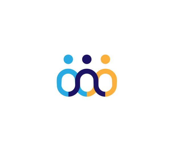 ikona aplikacji creative three people - grupa przedmiotów stock illustrations
