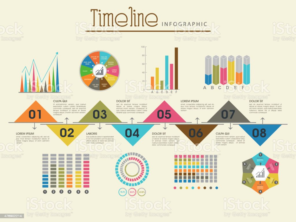 Creative Timeline Infographic Template Layout Stock Vector Art - Timeline infographic template