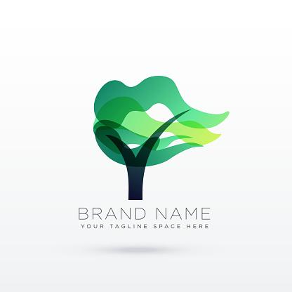 creative tree logo design illustration