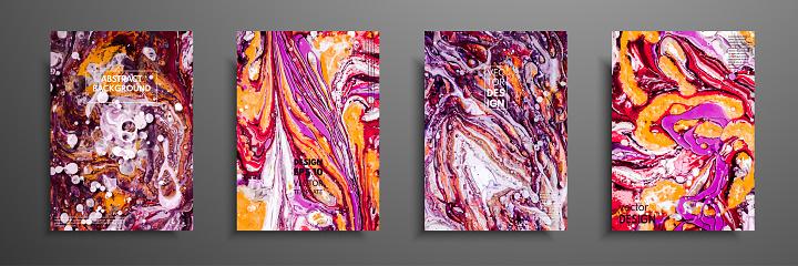 Kreative Trendige Karten Abstrakte Malerei Vorlagen Mit Platz Fur Ihren Text Flussige Kunst Anwendbar Fur Design Deckt Prasentation Einladung Flyer Geschaftsberichte Plakate Und Visitenkarten Stock Vektor Art Und Mehr Bilder Von Abstrakt