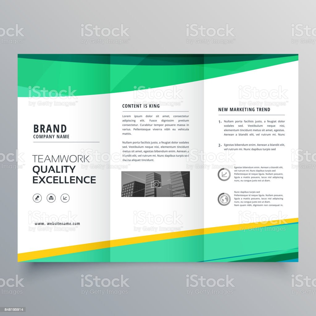 creative trifold brochure design template for your business vector art illustration