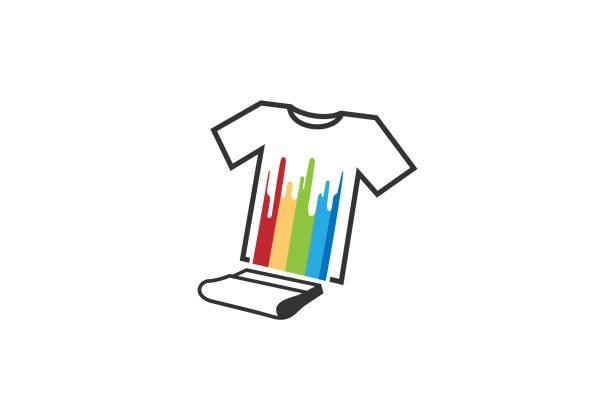 illustrations, cliparts, dessins animés et icônes de illustration creative t-shirt silkscreen logo symbole vecteur - raclette