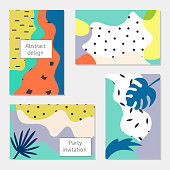 Creative universal abstract cards. Vector Illustration.