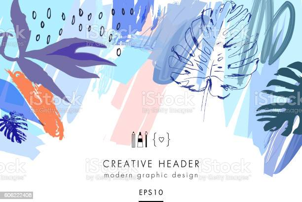 Creative universal floral header in tropical style vector id606222408?b=1&k=6&m=606222408&s=612x612&h=81fhndgd39tjrjmleorgtxwf 8vfljokoqkchfttgqw=