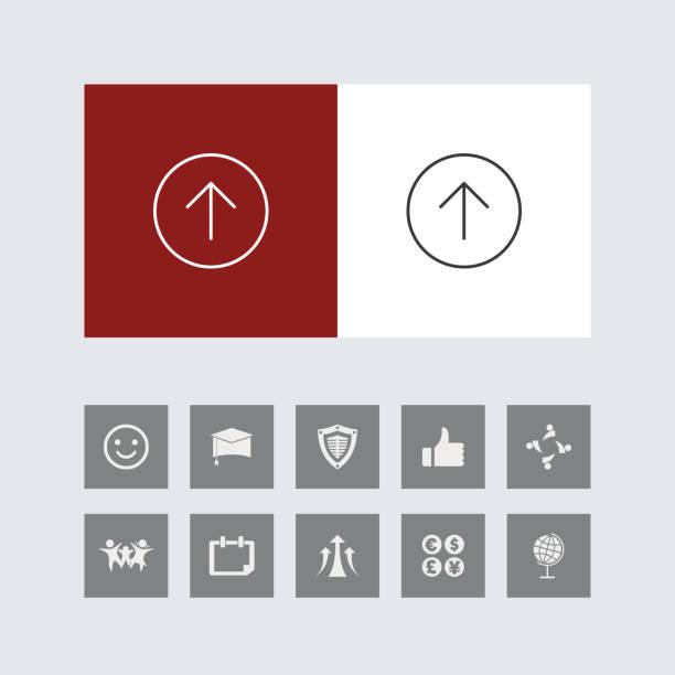 bonus simgeleri ile yaratıcı yukarı ok çizgisi simgeleri - start stock illustrations