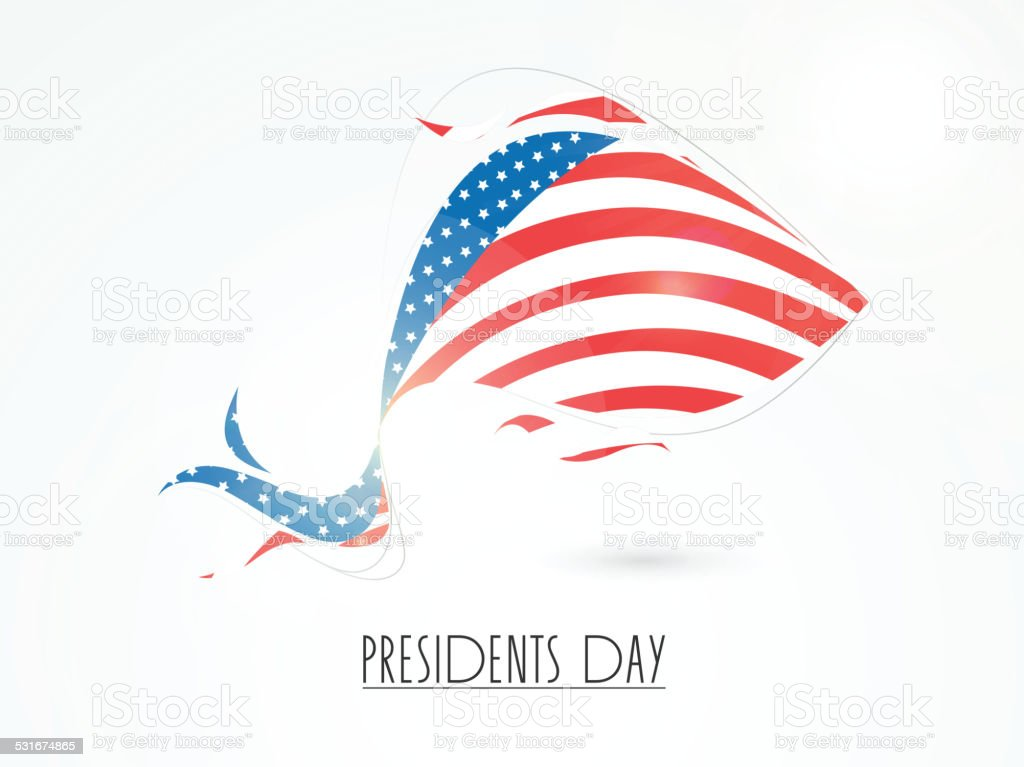 creative usa flag for presidents day celebration stock vector art