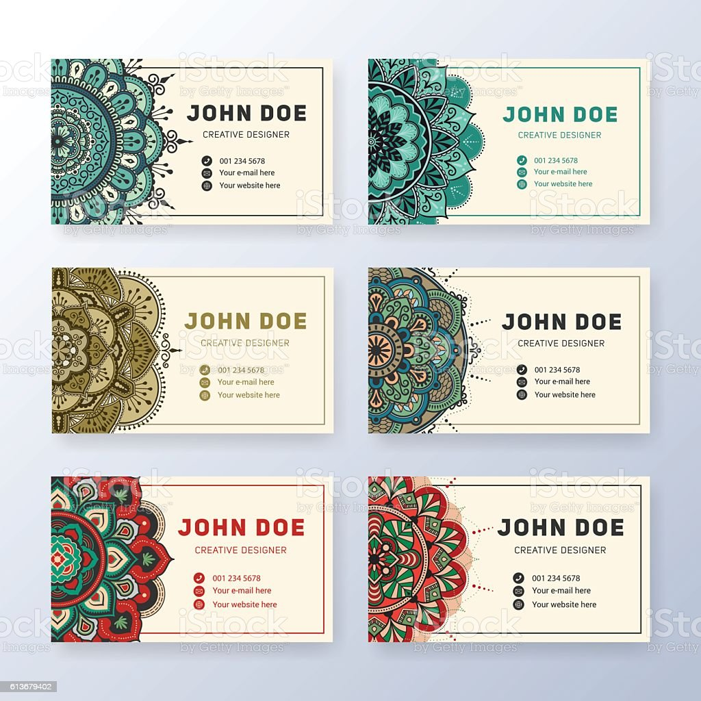 Creative Useful Business Name Card Design Stock Vector Art & More ...