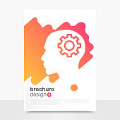 Creative Vector Brochure Design. Think Brochure Background Mockup. Profile Brochure