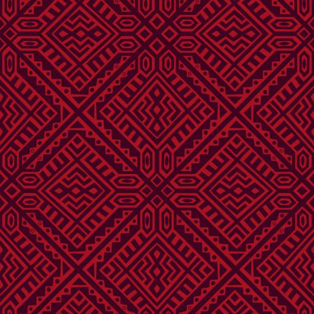 creative vector geometric seamless pattern - wzór graficzny stock illustrations