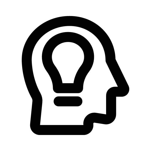 creative idea energy efficient lightbulb stock illustrations