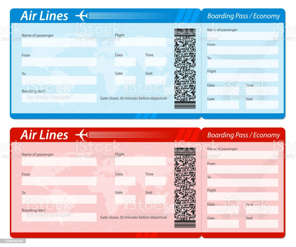 Creative Vector Illustration Of Airline Boarding Pass Ticket