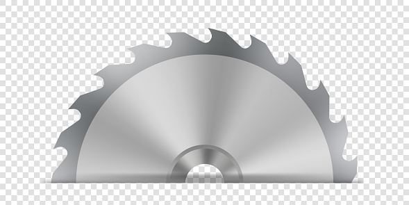 Creative vector illustration of circular saw blade for wood, metal work with welding metal fire sparks isolated on transparent background. Art design template. Abstract concept graphic weld element
