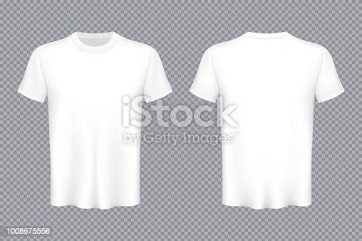 Ilustración de vector creativo del Set de camisetas colores aislados sobre fondo transparente. Plantilla de publicidad arte diseño maquetado en blanco. Elemento de impresión de la vista superior gráfico concepto abstracto