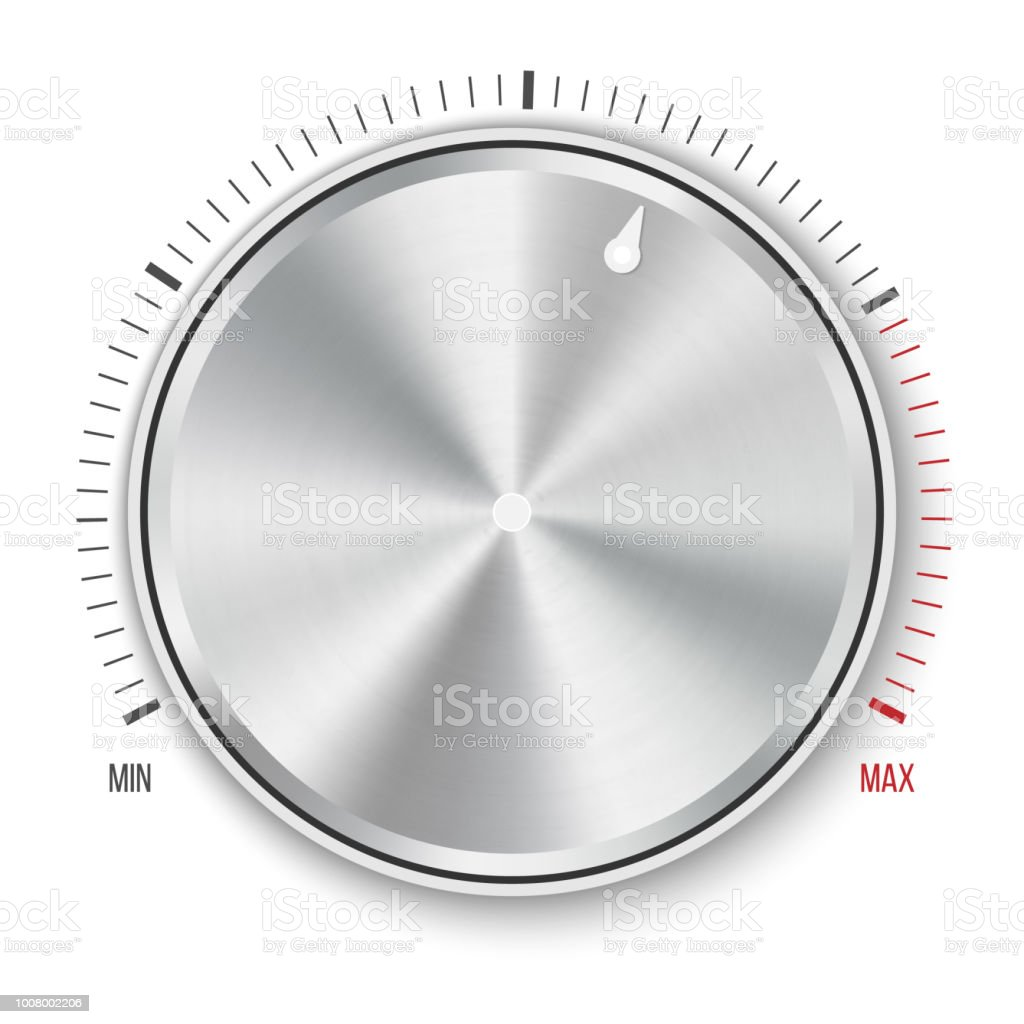 Creative Vector Illustration Of Dial Knob Level Technology