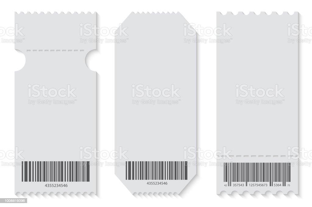 Kreative Vektorillustration Von Leeren Ticket Vorlage Mockup Set ...