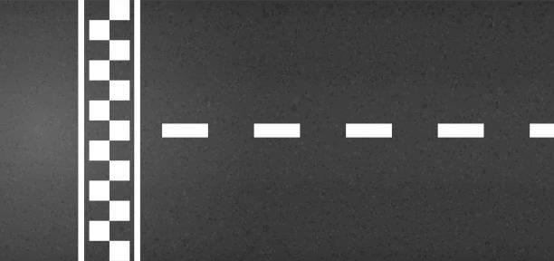 ilustrações de stock, clip art, desenhos animados e ícones de creative vector illustration of finish line racing background top view. art design. start or finish on kart race. grunge textured on the asphalt road. abstract concept graphic element - driveway, no people