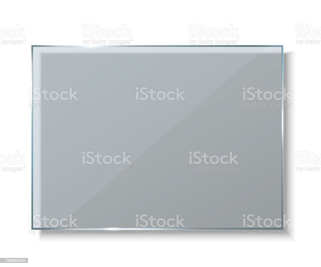 Creative vector illustration of glass plates, empty blank banners isolated on transparent background. Art design realistic mock up. Abstract concept graphic element royalty-free creative vector illustration of glass plates empty blank banners isolated on transparent background art design realistic mock up abstract concept graphic element stock illustration - download image now