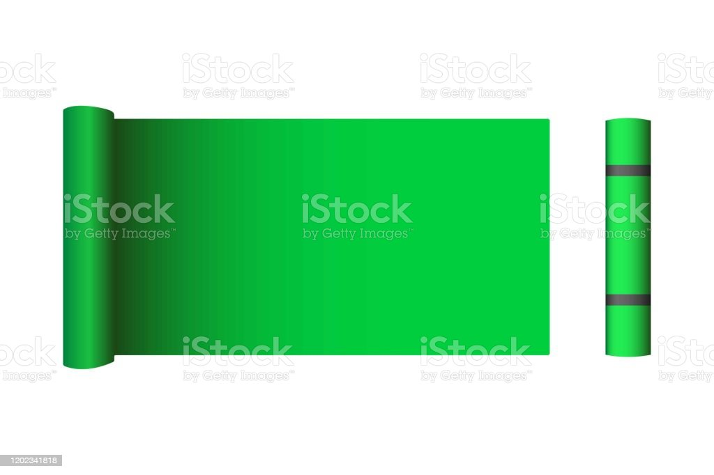 Creative Vector Illustration Of Half Rolled Yoga Mat Isolated On Transparent Background Art Design Fitness And Health Template Abstract Concept Graphic Pilates Exercise Equipment Element Stock Illustration Download Image Now Istock