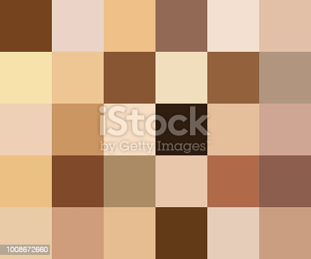 Creative vector illustration of human skin tone color palette set isolated on transparent background. Art design. Abstract concept person face, body complexion graphic element for cosmetics.