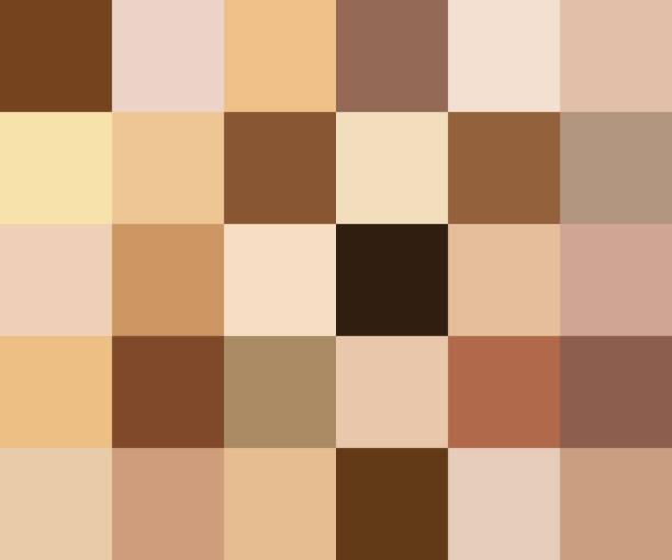 stockillustraties, clipart, cartoons en iconen met creatieve vectorillustratie van menselijke huid toon kleurenpalet geïsoleerd op transparante achtergrond instellen. kunst design. abstract concept persoon gezicht, lichaam teint grafisch element voor cosmetica - menselijke huid